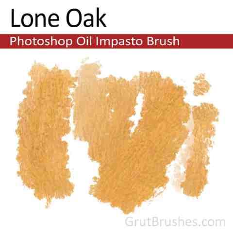 'Lone Oak' Impasto Oil Photoshop Brush for digital artists