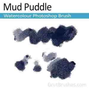 'Mud Puddle' Photoshop watercolor brush for digital painting