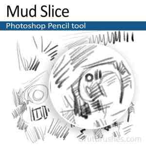 'Mud Slice' Photoshop Pencil brush