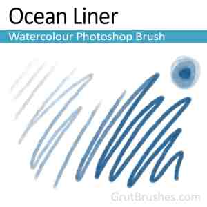 'Ocean Liner' Photoshop watercolor brush for digital painting