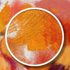 detail of Photoshop impasto brush strokes