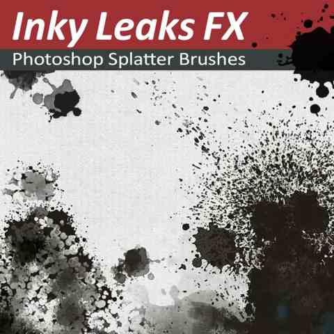 Photoshop Splatter Brushes