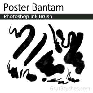 Photoshop Ink Brush for digital painting