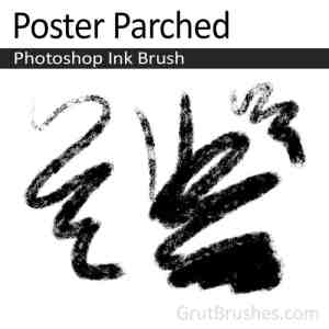 Poster parched Photoshop ink brush