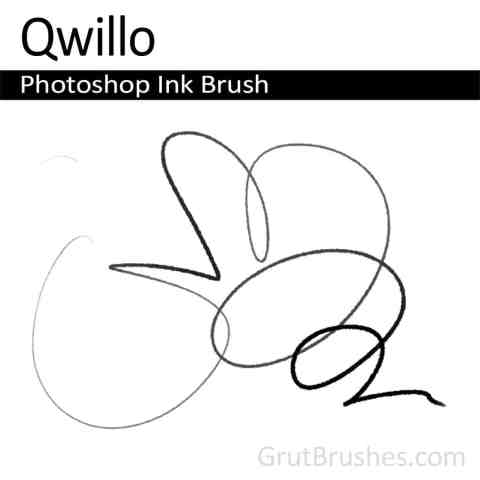Photoshop Ink Brush for digital artists 'Qwillo'