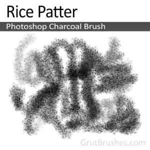 Photoshop Charcoal Brush toolset 'Rice Patter'