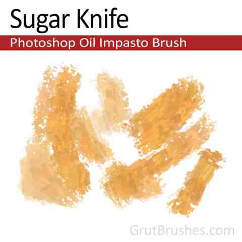 Photoshop Impasto Brush 'Sugar Knife'