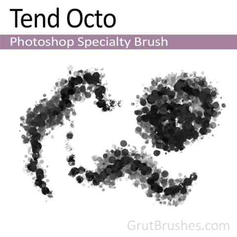Photoshop Specialty Brush for digital artists 'Tend Octo'