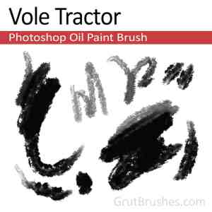 Photoshop Oil Brush toolset 'Vole Tractor' for digital artists