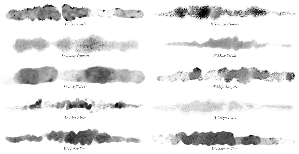 GrutBrush Waters 02 - 10 more Photoshop Watercolor Brushes