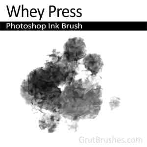 Photoshop Ink Brush 'Whey Press'