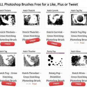 free artisanal Photoshop brushes for digital artists