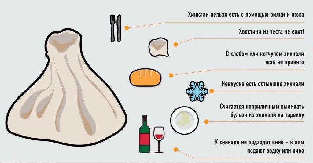 Как едят хинкали