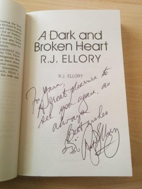 Ellory A dark and broken heart