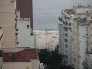 Utsikt til Copacabana fra hotellterassen