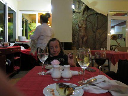 9. Middag på a la carte om kvelden