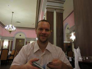 93. Middag på Gran National hotel -- Comedor de Aguiar