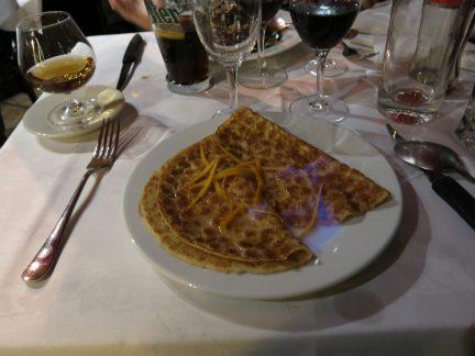 9. Flambert crepes til dessert