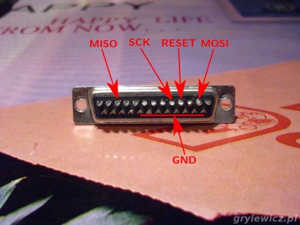 Najprostszy programator AVR - LPT z tyłu