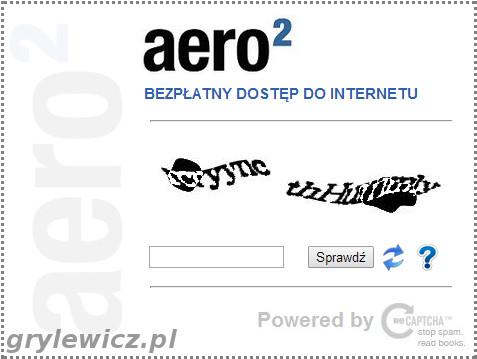 Aero2 i kod Captcha