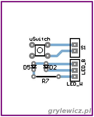 Widok płytki z diodami LED