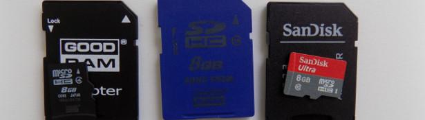 Różne karty SD