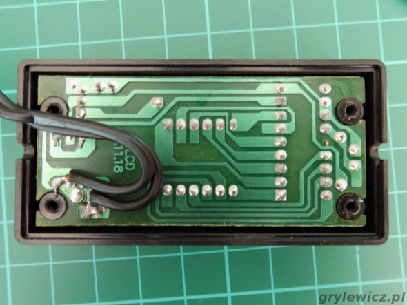 PCB woltomierza