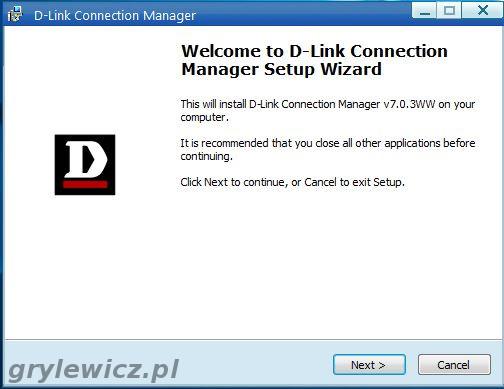 Instalowanie aplikacji D-Link