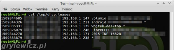 adresy ip z dhcp.leases