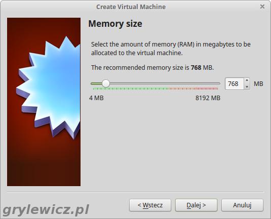 Virtualbox pamięć RAM