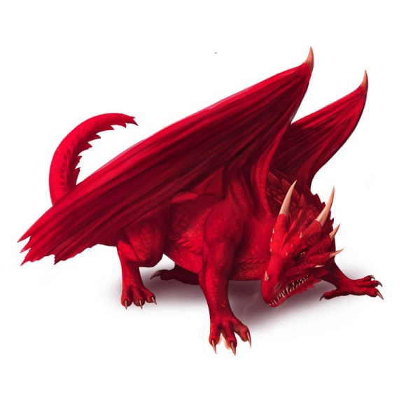 Valtharax, fire ruby dragon