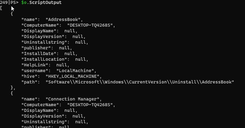 ScriptOutput content from Invoke-VMScript