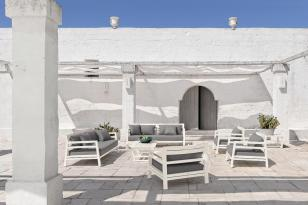COSTES białe meble ogrodowe. ETHIMO