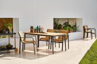 PARC krzesła teakowe i stół CORE Cane-line