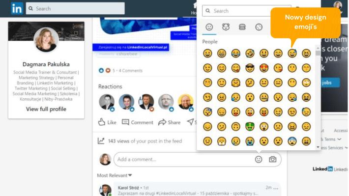 Zmiany na LinkedIn: Emojis
