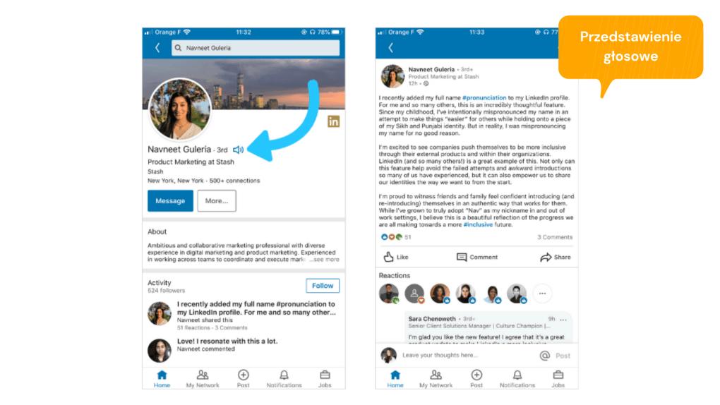 Zmiany na LinkedIn: Wymowa w profilu