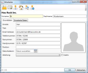 Adressverwaltung Person Grunddaten