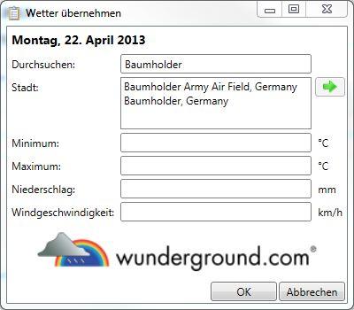 Bautagebuch Wunderground