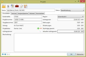 Projekte Projekt Grunddaten