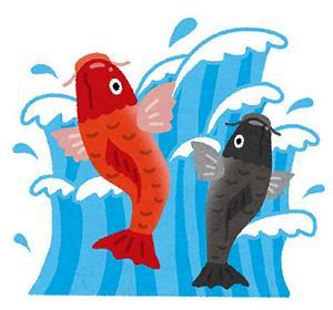 端午の節句鯉の滝登り