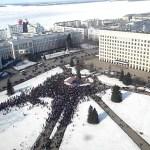 Архангельск протесты, митинг и потасовки с полицией