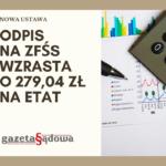 Jest ustawa: Odpis naZFŚS wzrasta oprawie 280 zł