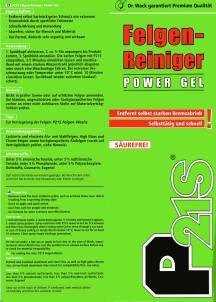 P21S Felgenreiniger Power Gel von Dr. Wack