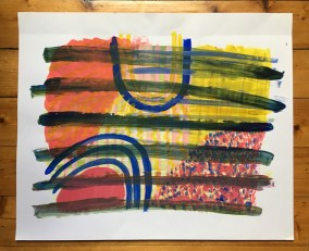 Alice Dansey-Wright, work from Experiments in Paint and Print at the Glasgow School of Art