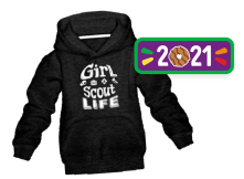 Girl Scout Life Sweatshirt and Patch