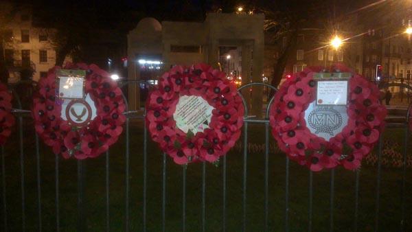 Remembrance Day Brighton 2013: LGBT wreath