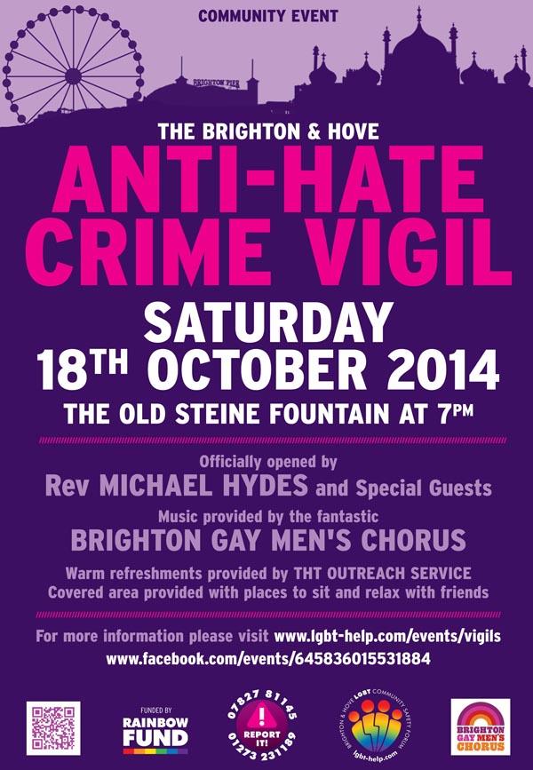 Brighton & Hove Hate Crime Vigil
