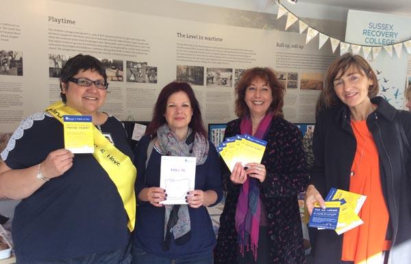 Photo from L to R: Local Mind worker, Caroline Penn, Nancy Platts, Catherine Wilson