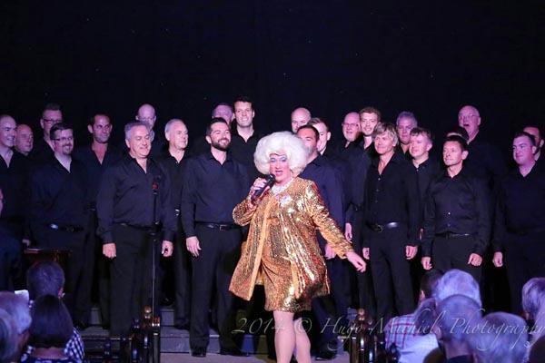 Miss Jason with Actually Gay Men's Chorus