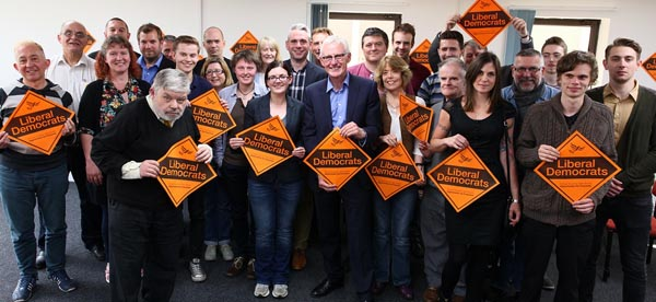 Norman Lamb MP and local party members